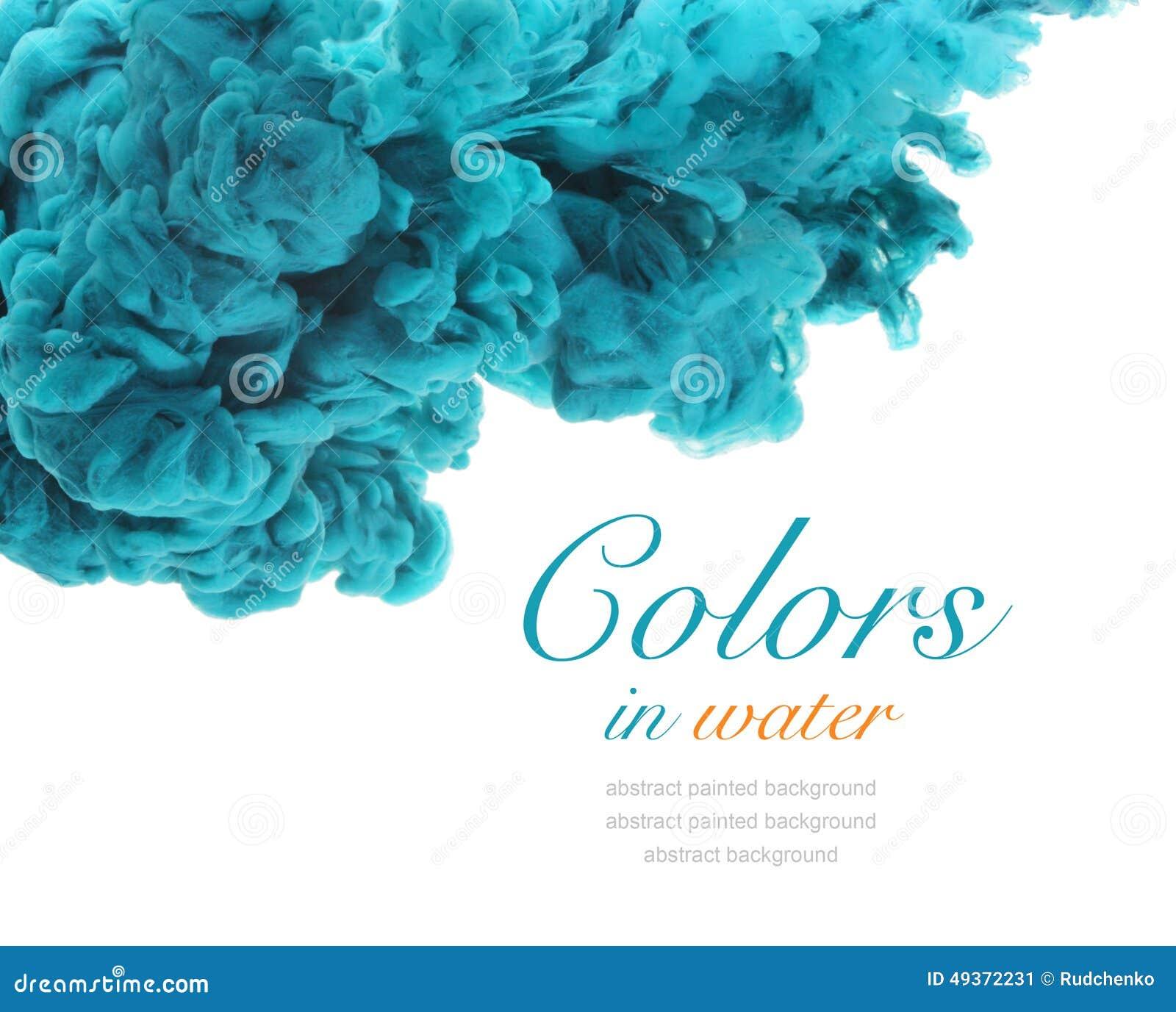 Acrylfarben und Tinte im Wasser entziehen Sie Hintergrund