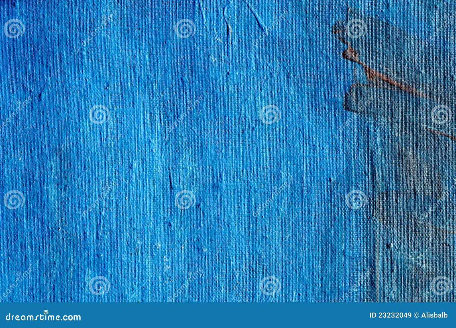 Acrylic Blue Painted Canvas Background Stock Image Image
