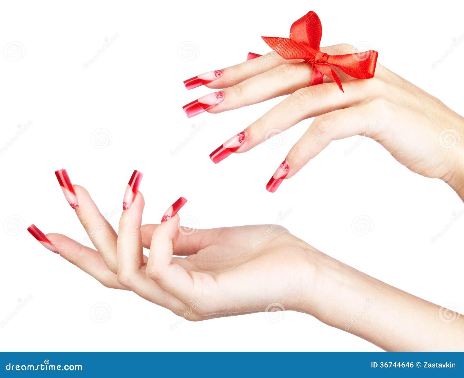 Acrylic nails manicure stock photo. Image of design, growing - 36744646