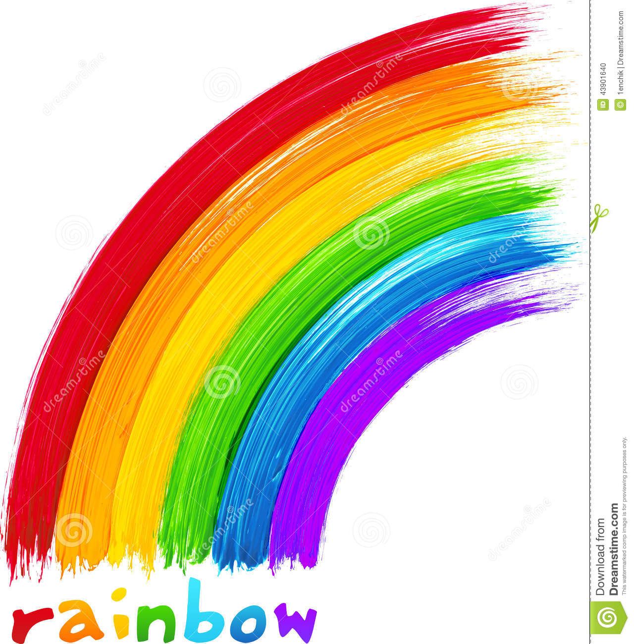 Acrylic painted rainbow vector image stock vector image for Arcobaleno design