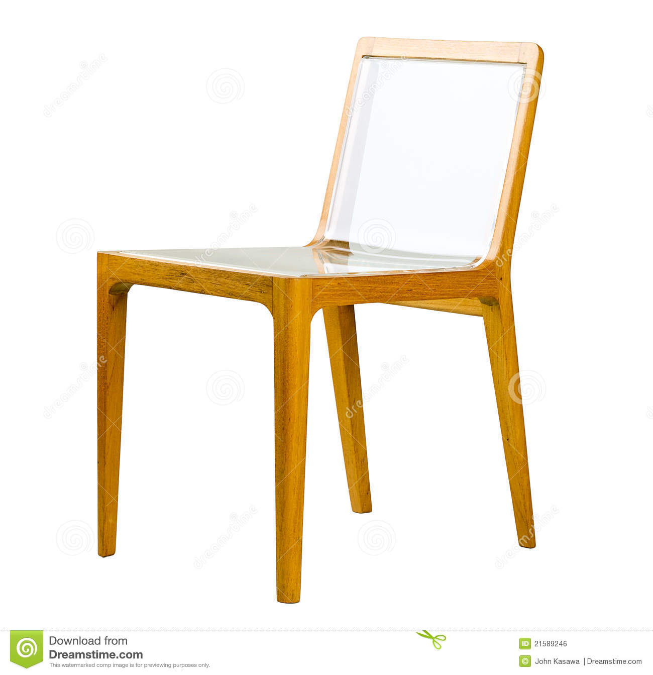 Awe Inspiring Acrylic Wooden Chair Stock Photo Image Of Handmade Sitting Machost Co Dining Chair Design Ideas Machostcouk