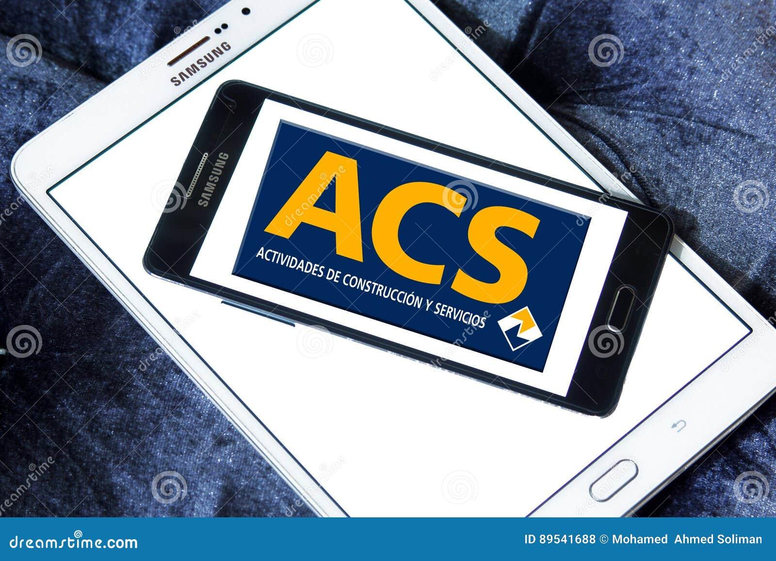 Acs Construction Group Logo Editorial Stock Photo Image Of Symbols