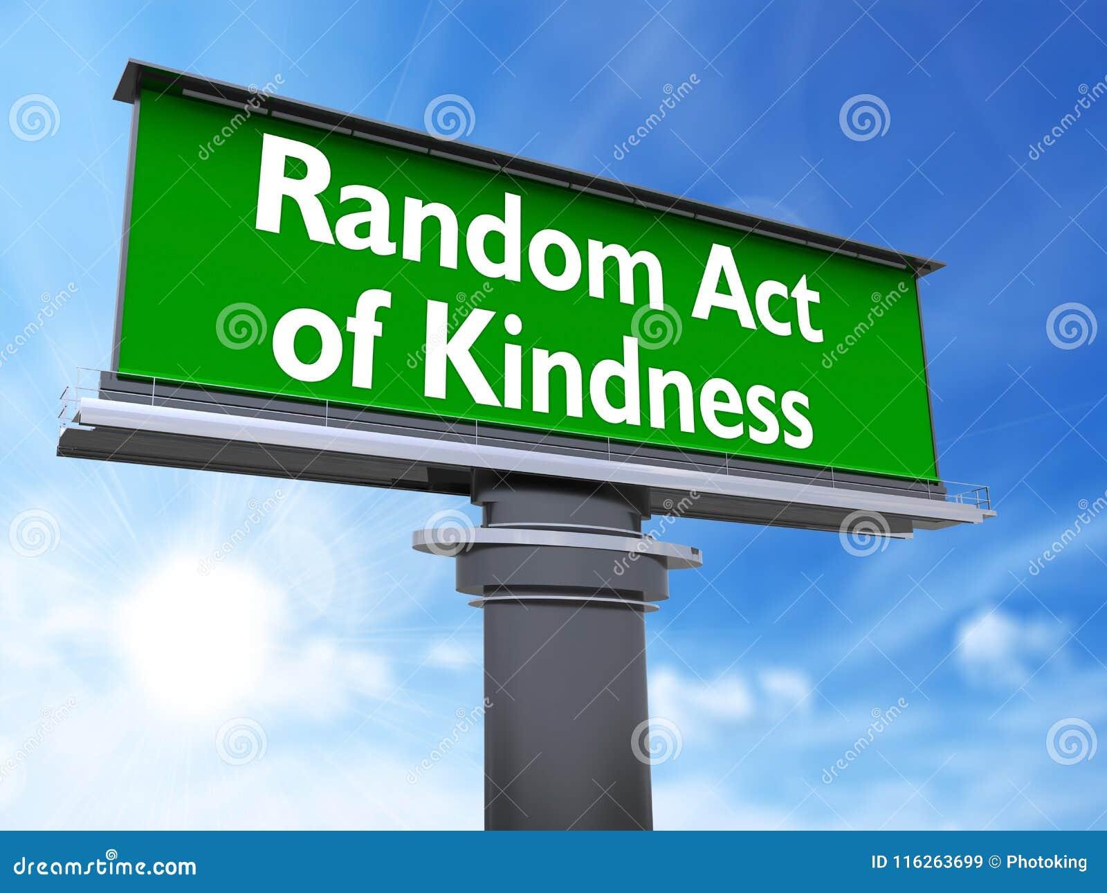 Acte aléatoire de la gentillesse