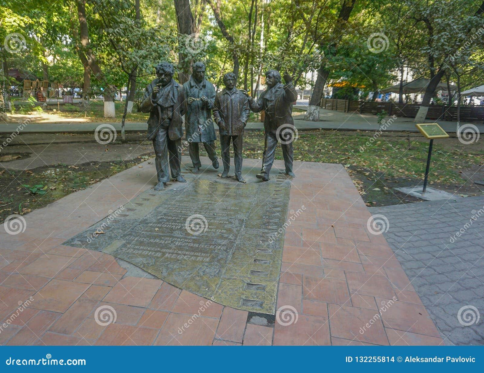 Acteurs de statue de parc d Erevan