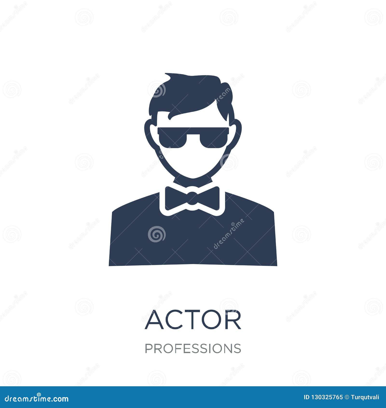 Acteurspictogram In vlak vectoracteurspictogram op witte achtergrond Fr