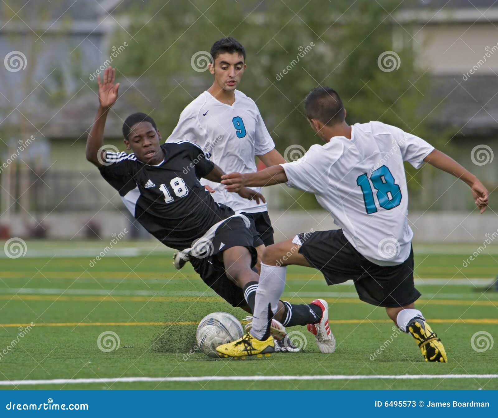 Actie 1 van het voetbal