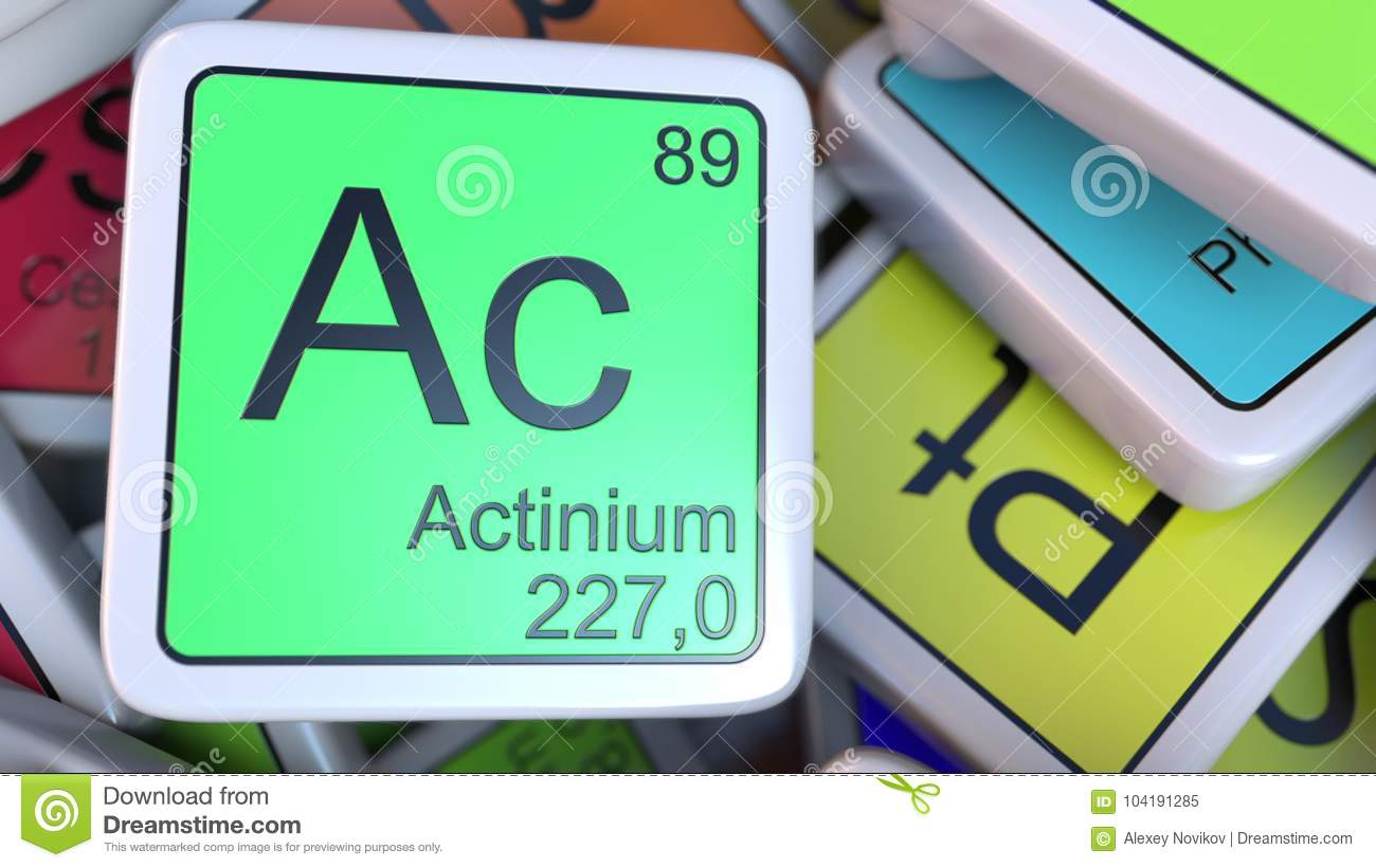 Actinium Ac Block On The Pile Of Periodic Table Of The Chemical