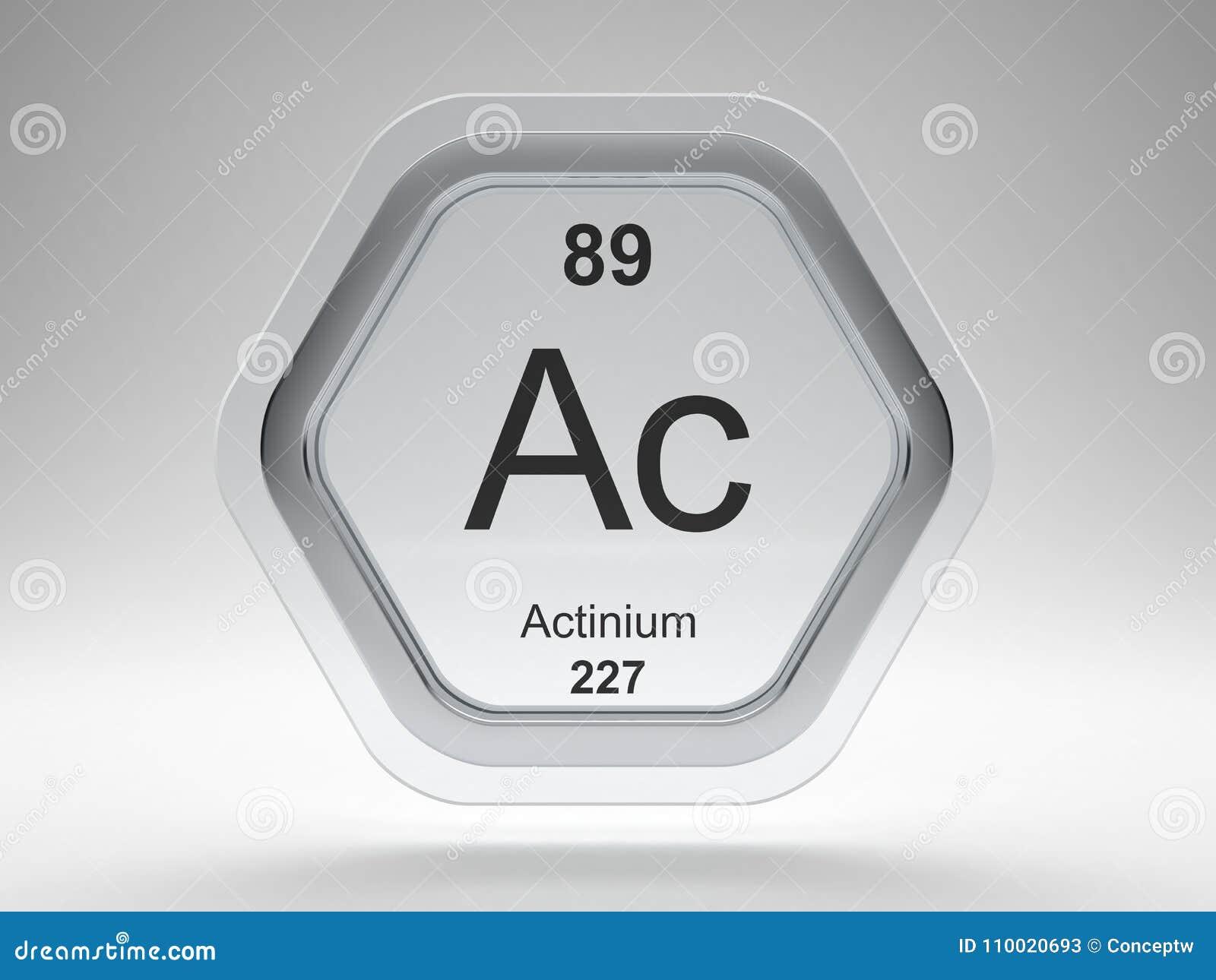 Actinium Symbol Hexagon Frame Stock Illustration Illustration Of