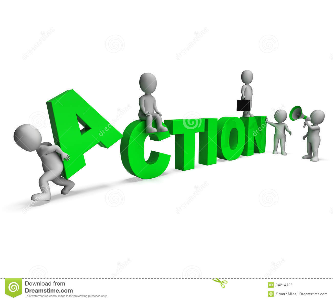 Royalty Free Stock Image: Action Characters Shows Motivated Proactive ...