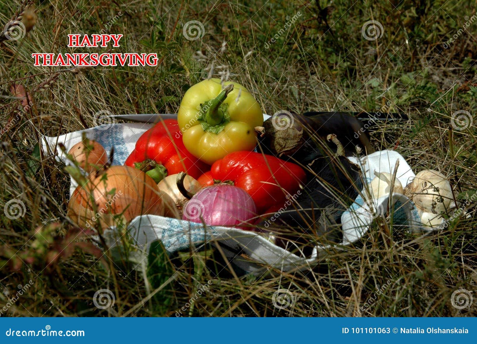 Action de grâces heureuse légumes pour le thanksgiving
