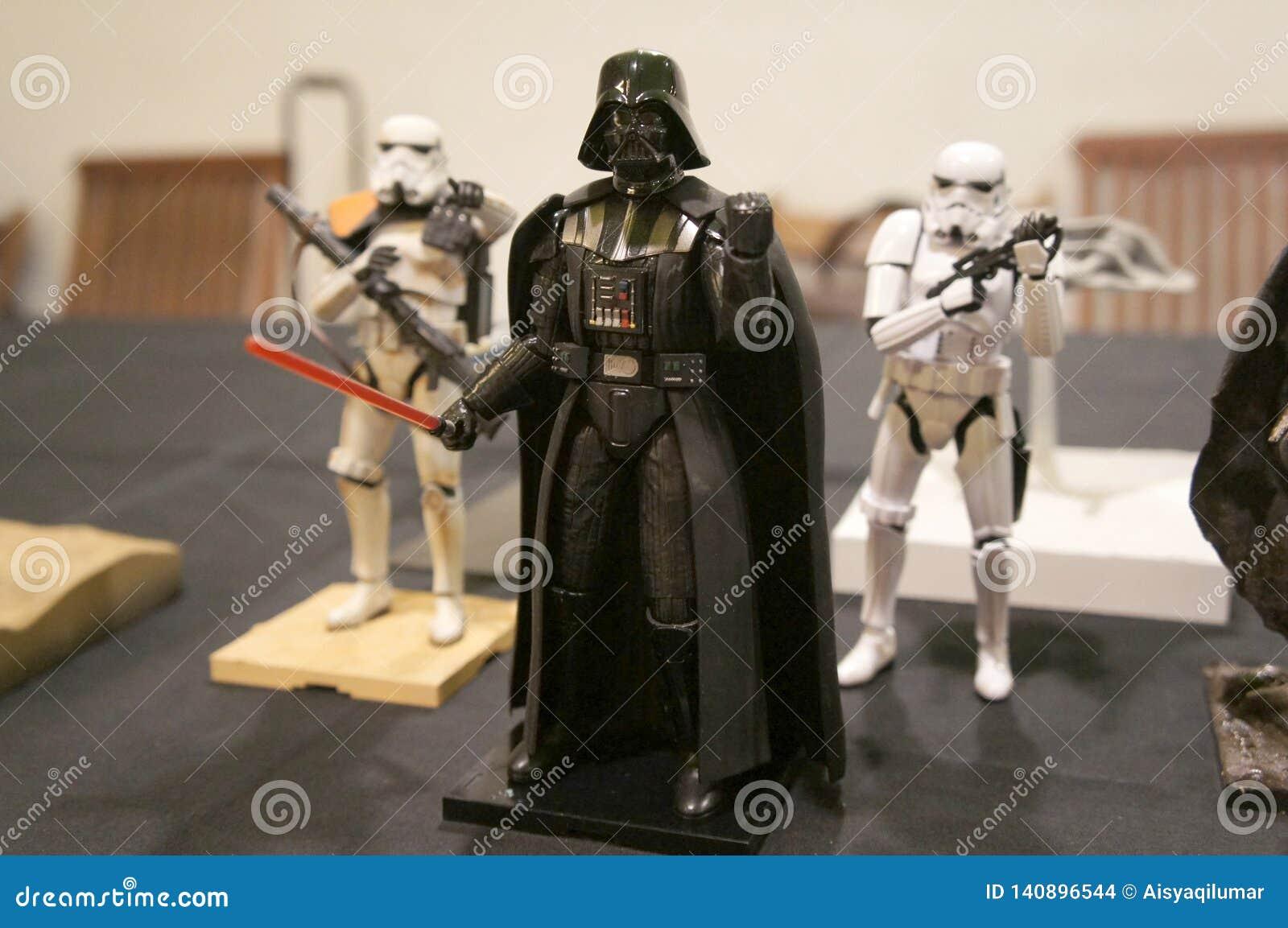 Action-Figuren der literarischen Figur von Darth Vader von den Star Wars-Vorrechtfilmen