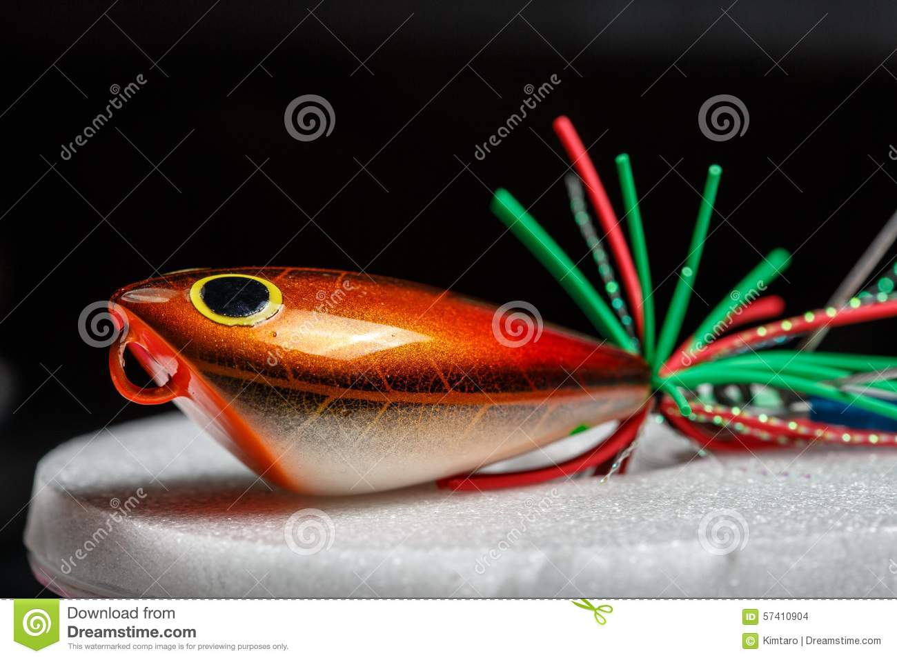 Action Lure For Sport Fishing Game Stock Photo - Image of ...