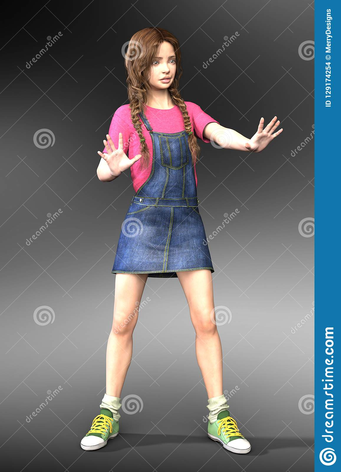 3D Young Teen or Child Character