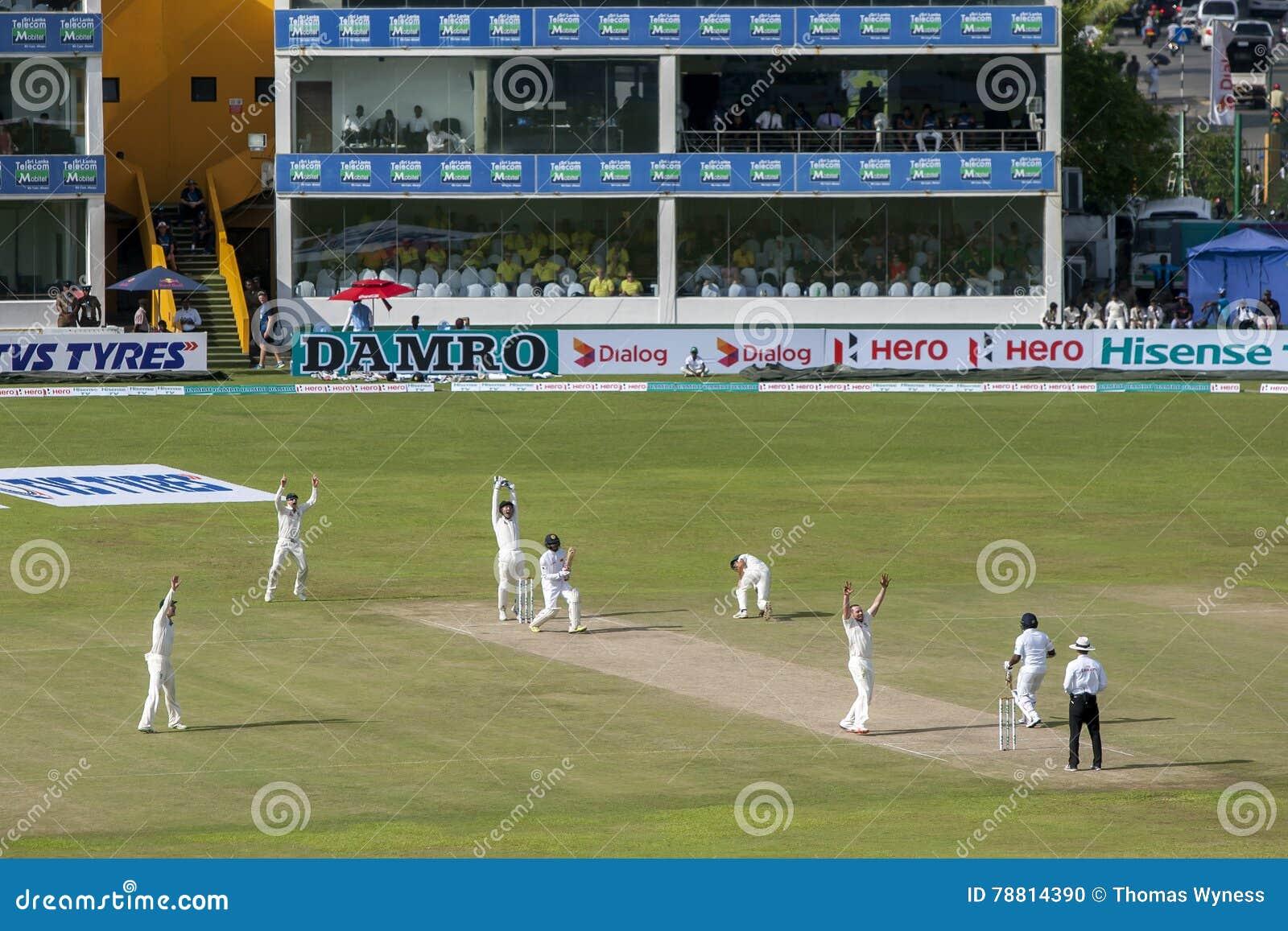 Action From The Second Test Match Australia Verses Sri Lanka
