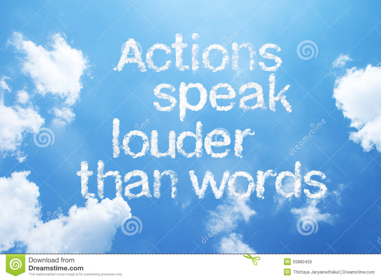 Actions Speak Louder Than Words Stock Illustration Image