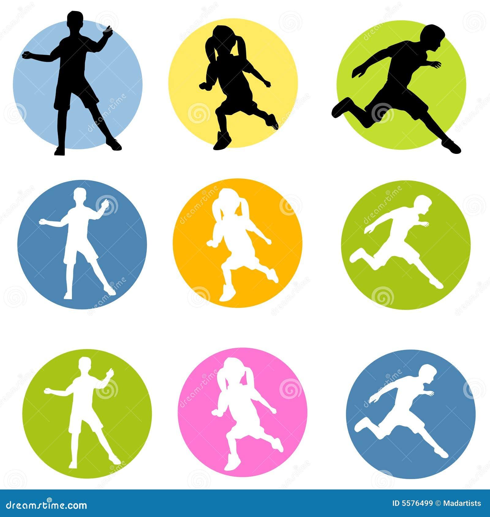 Active Kids Clipart