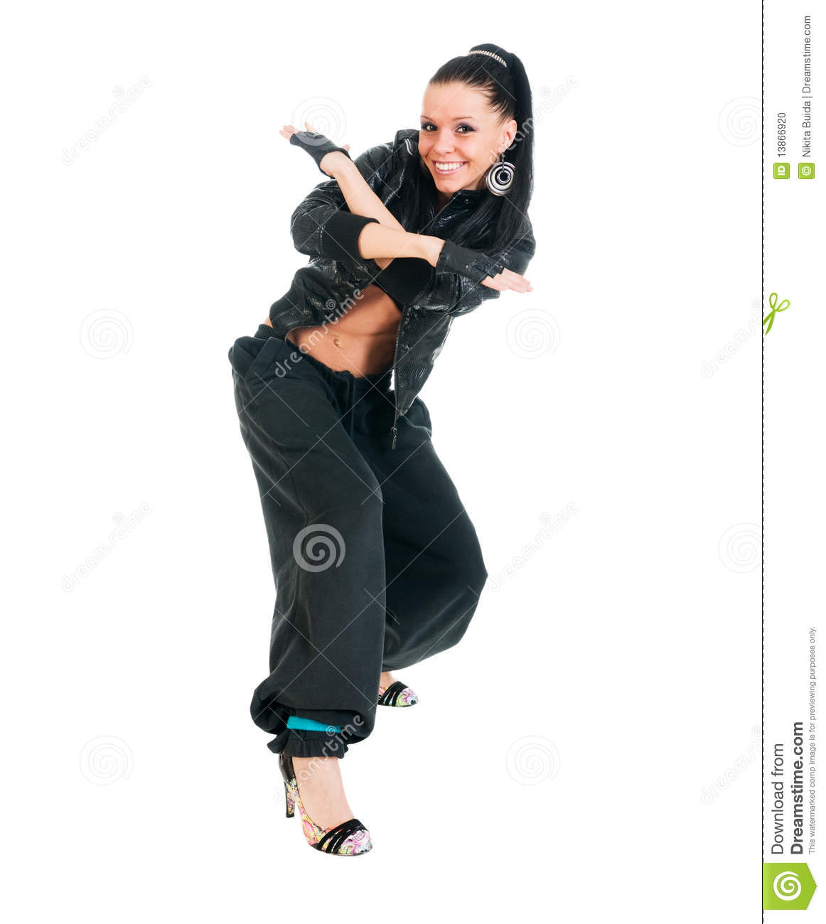 Active Hip-hop Dancer On White Stock Photo - Image: 13866920