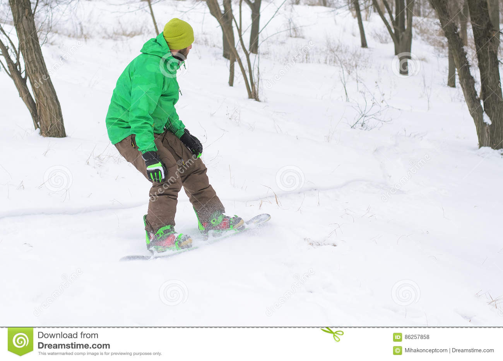 Active Man Snowboarding Stock Photo Image Of Travel 86257858