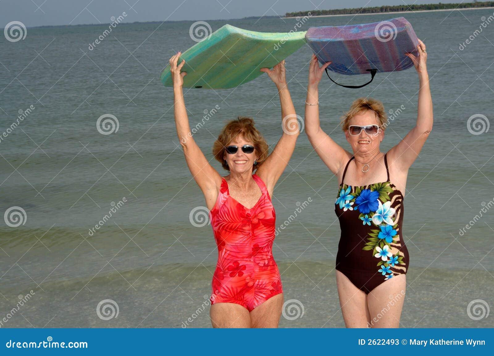 active mature women at beach stock photo 2622493 - megapixl