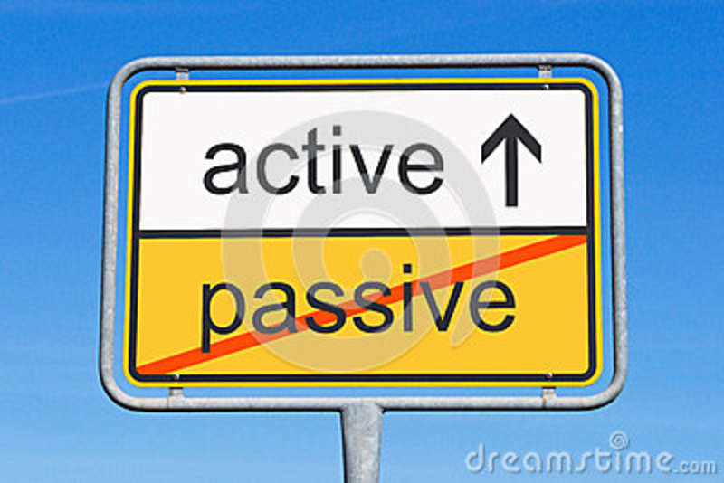 Active instead of passive sign