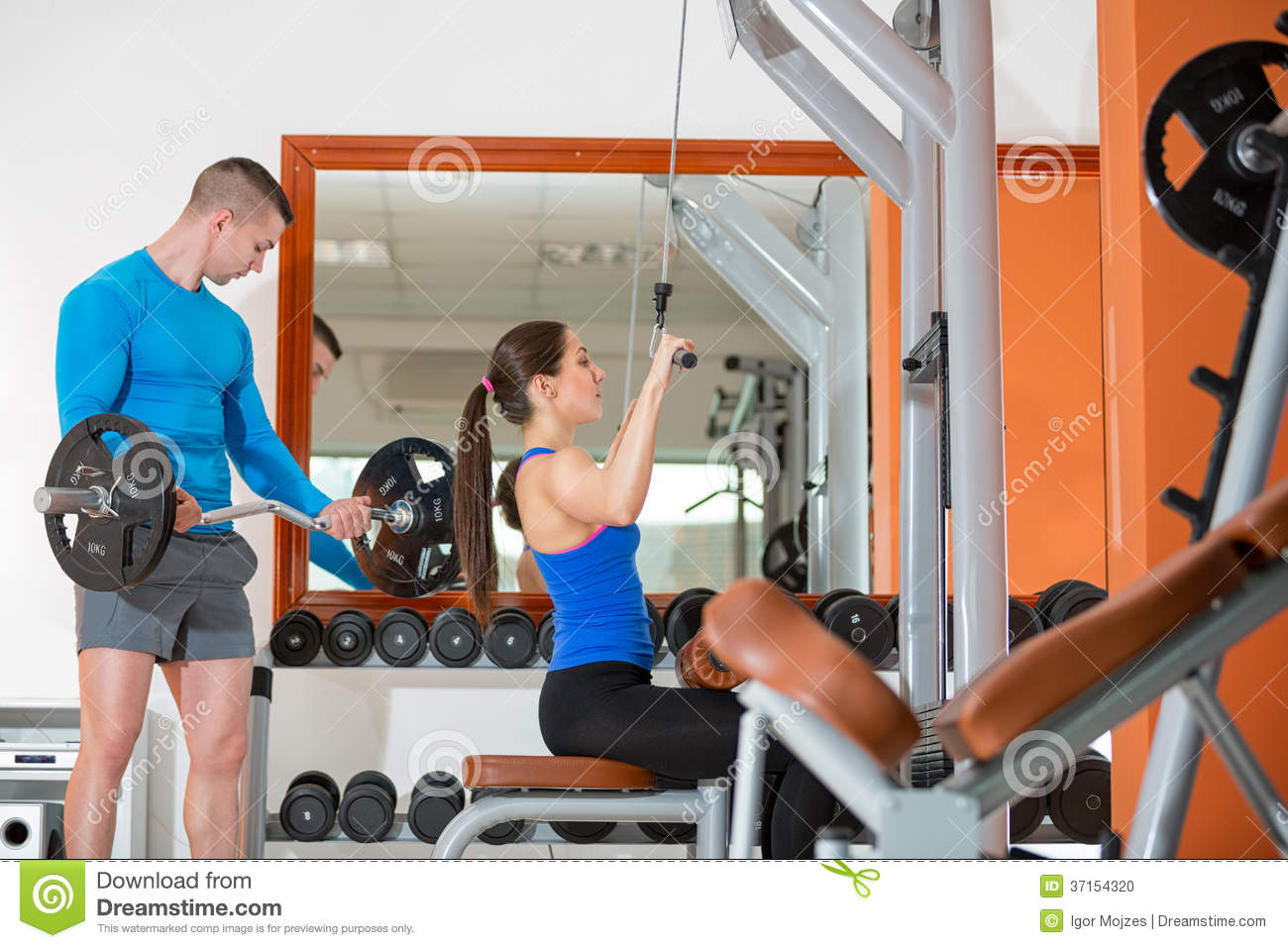 Active People At Gym Stock Photo - Image: 37154320