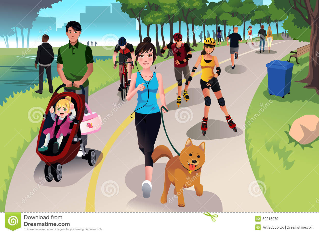 active people in a park stock vector image 50016970 clipart exercise book clip art exercise equipment