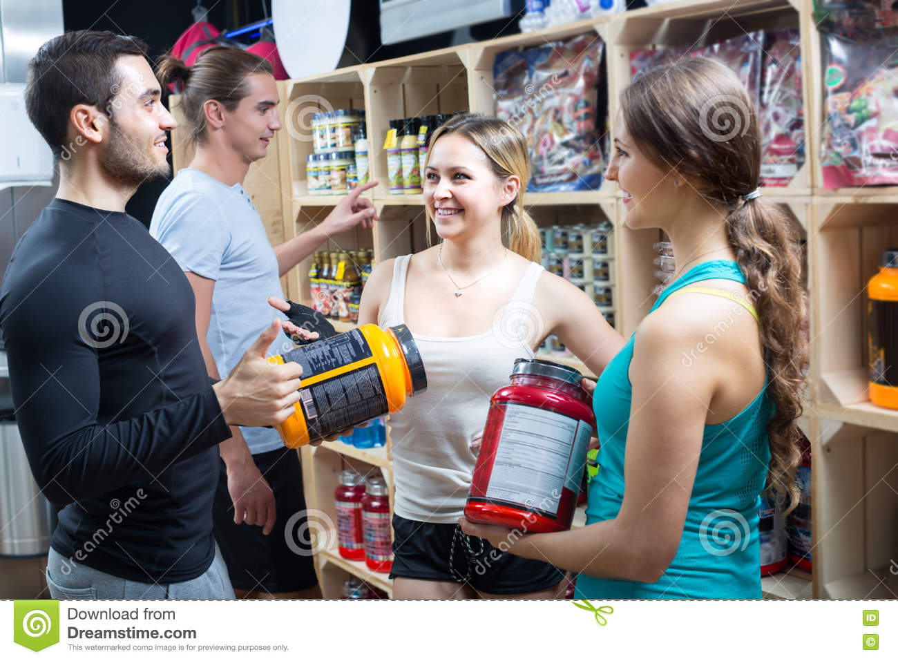 Active people with sport nutrition stock photo for Active salon supplies