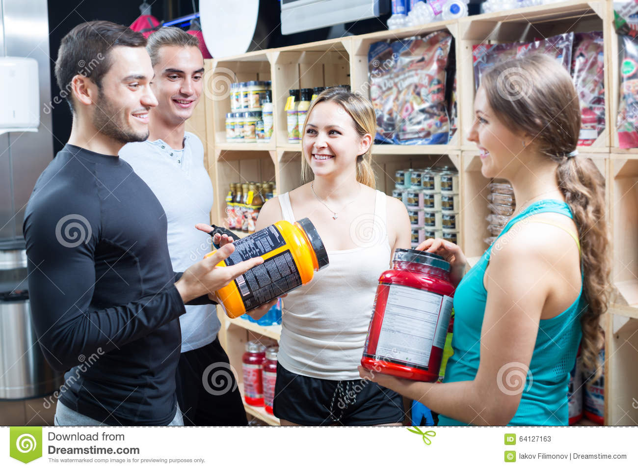 Active people with sport nutrition stock photo image for Active salon supplies