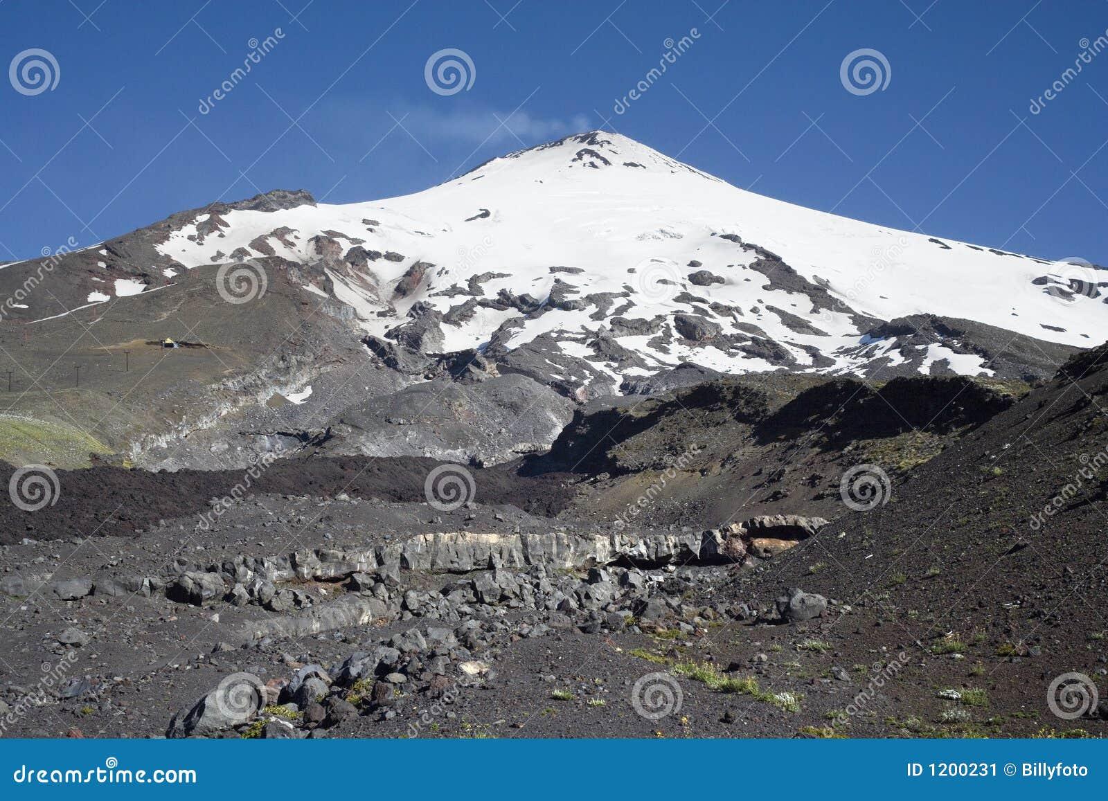 Active Villarrica volcano