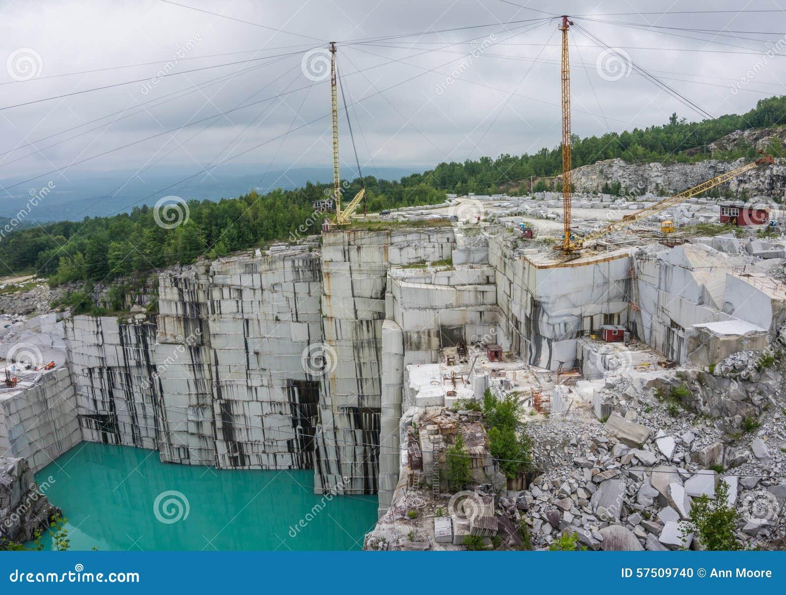 Active Working Granite Quarry Stock Photo Image Of