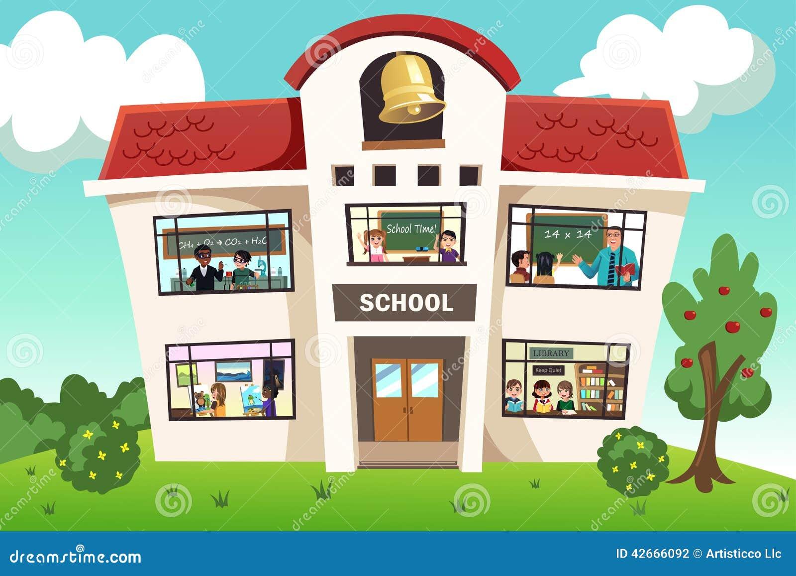 Actividad de escuela ilustraci n del vector imagen 42666092 for Memoria descriptiva de un colegio