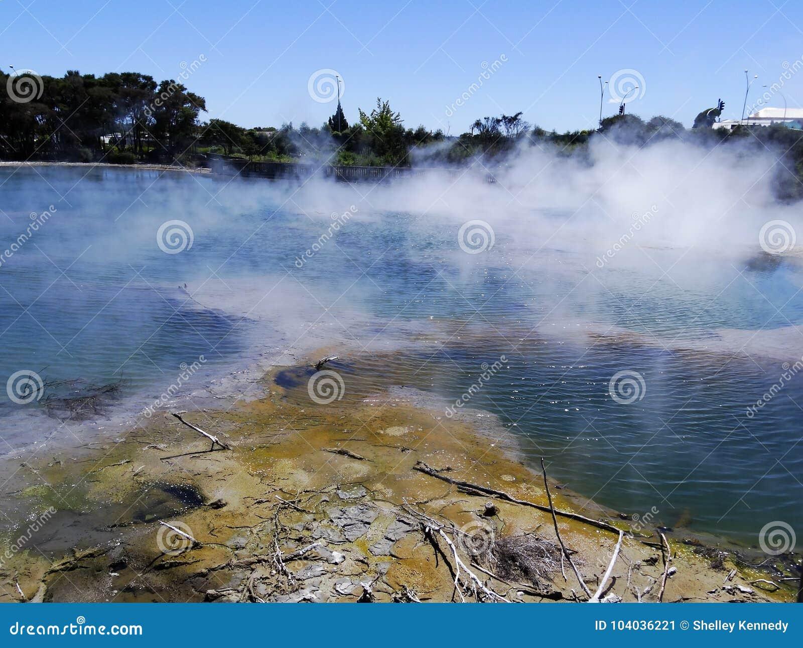Activité géothermique dans Rotorua, Nouvelle-Zélande