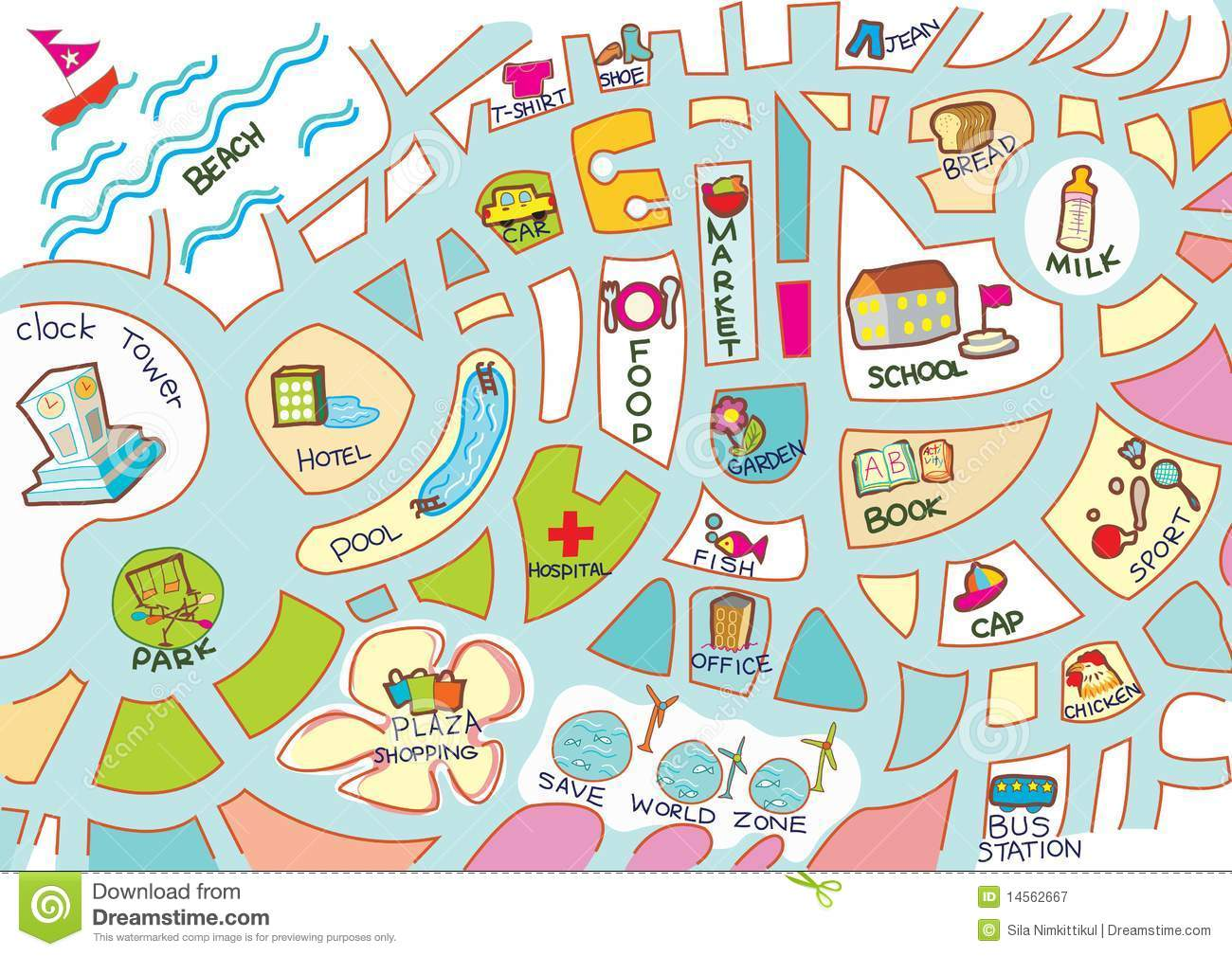 Copy Of Maps For First Grade Lessons Tes Teach - Town map for kids