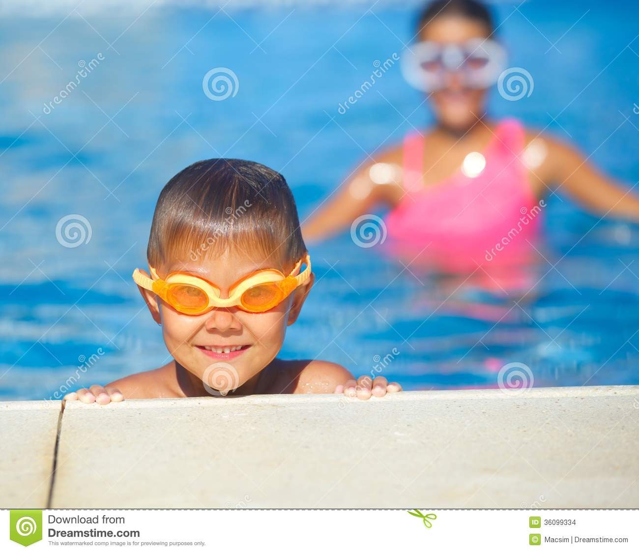 Activities on the pool stock images image 36099334 for Cute pool pictures