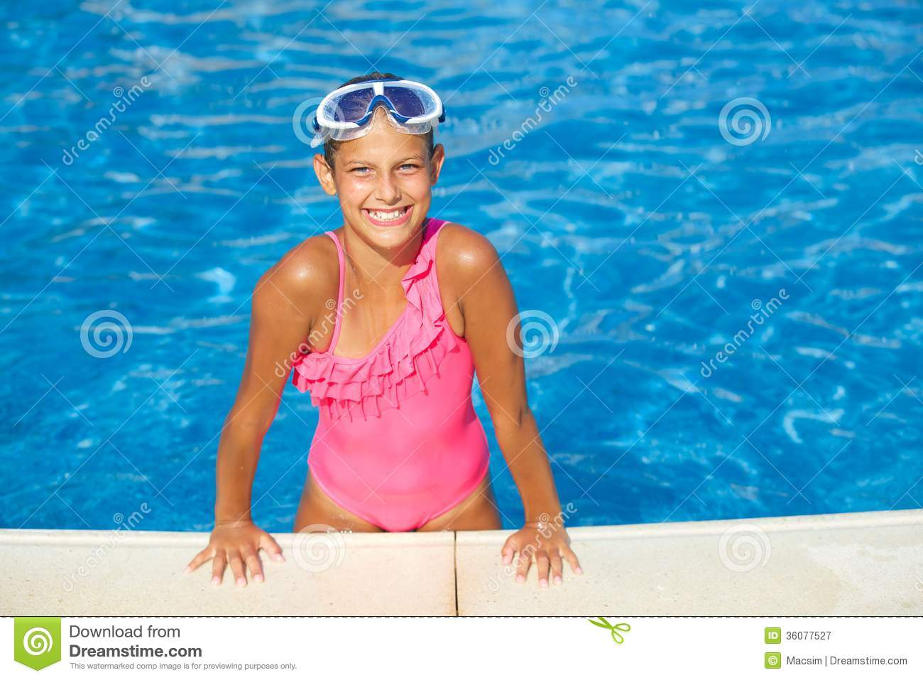 Activities on the pool royalty free stock photography for Cute pool pictures