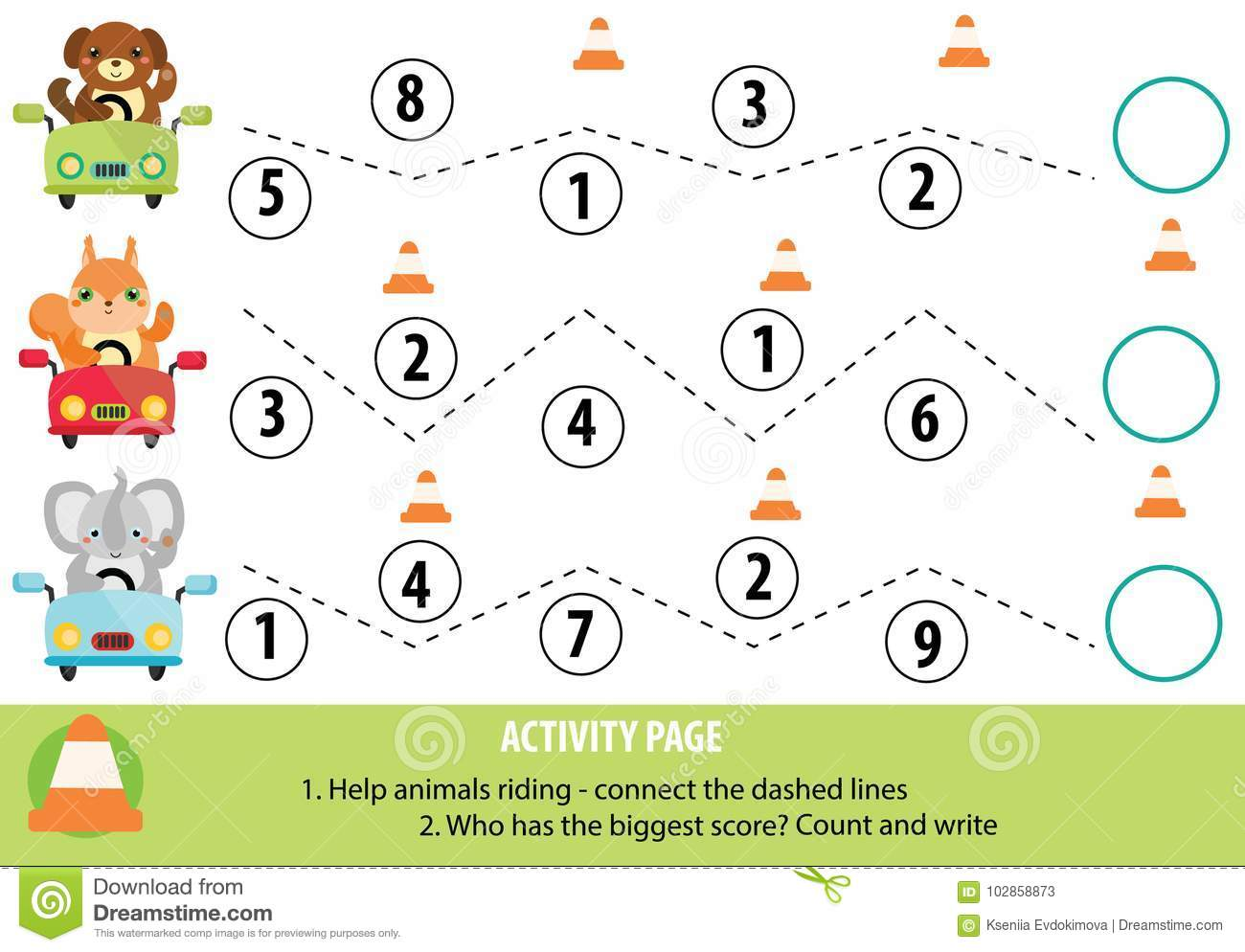 Worksheets Toddler Handwriting Worksheets activity page for children handwriting practice and mathematics download stock vector illustration of