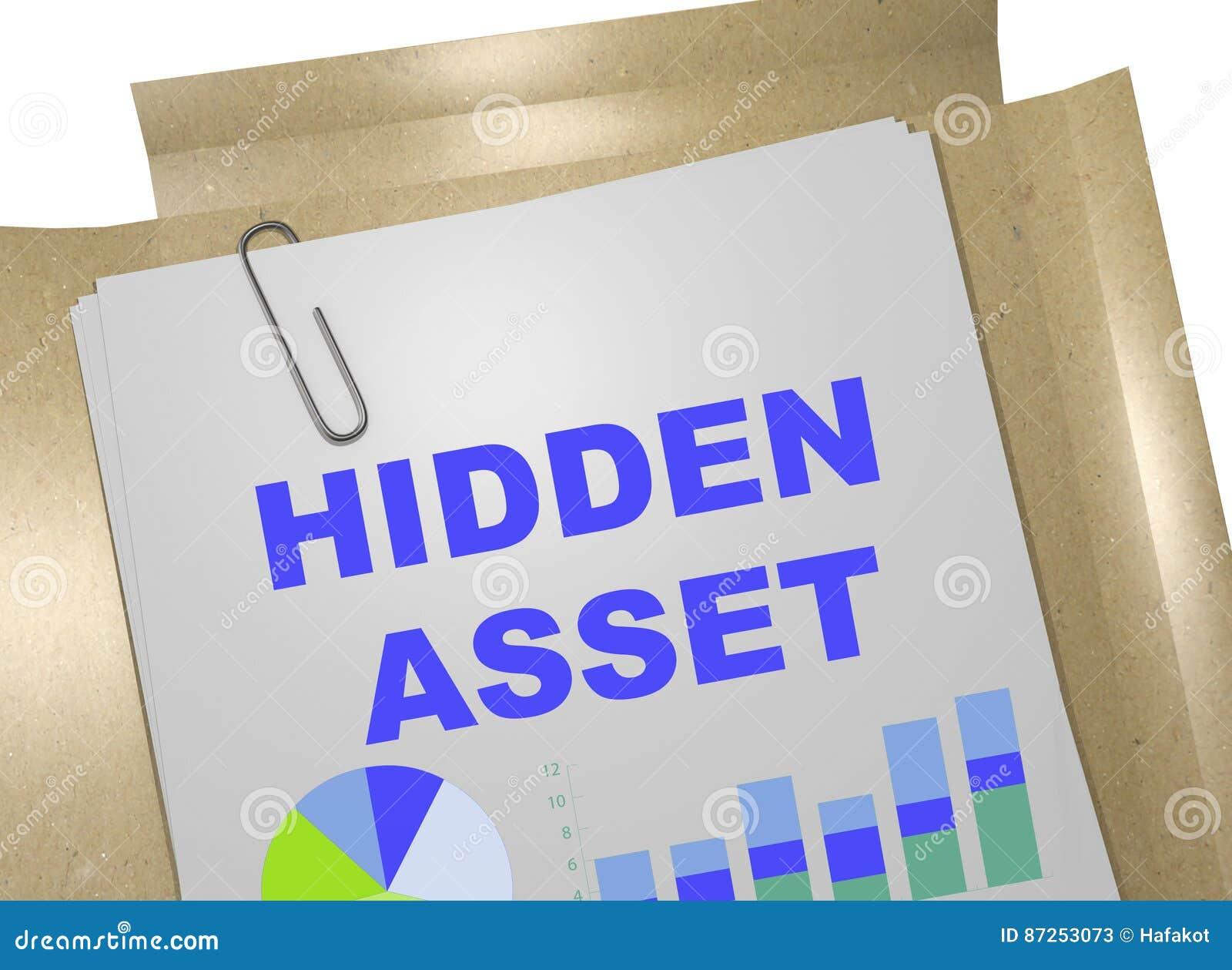 Activo ocultado - concepto de las actividades bancarias