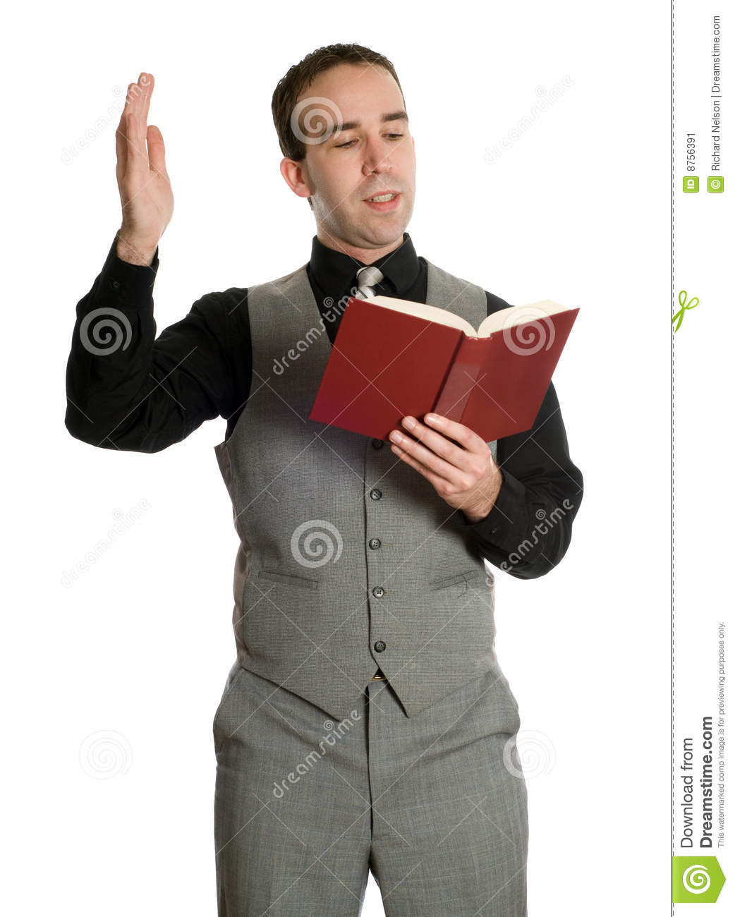 Actor Reading His Script Stock Image Image 8756391