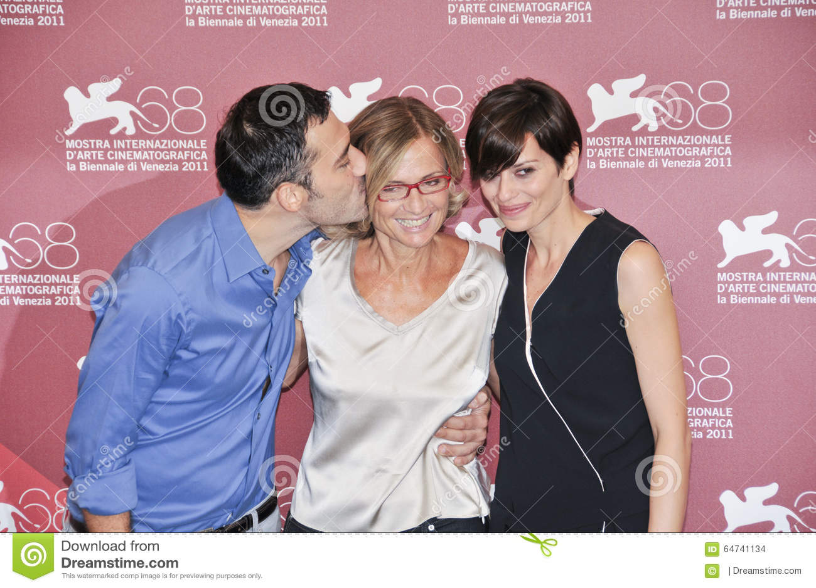 Actores Filippo Timi, Cristina Comencini y Claudia Pandolfi