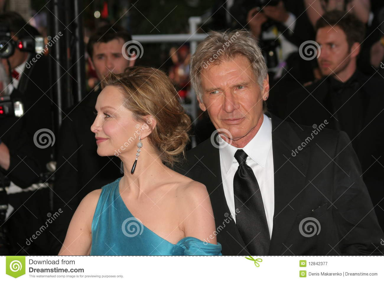 CANNES, FRANCE - MAY 18: Actors Harrison Ford and Calista Flockhart