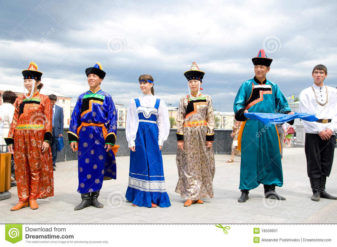 Actors in russian and buryat national costumes editorial photo actors in russian and buryat national costumes m4hsunfo