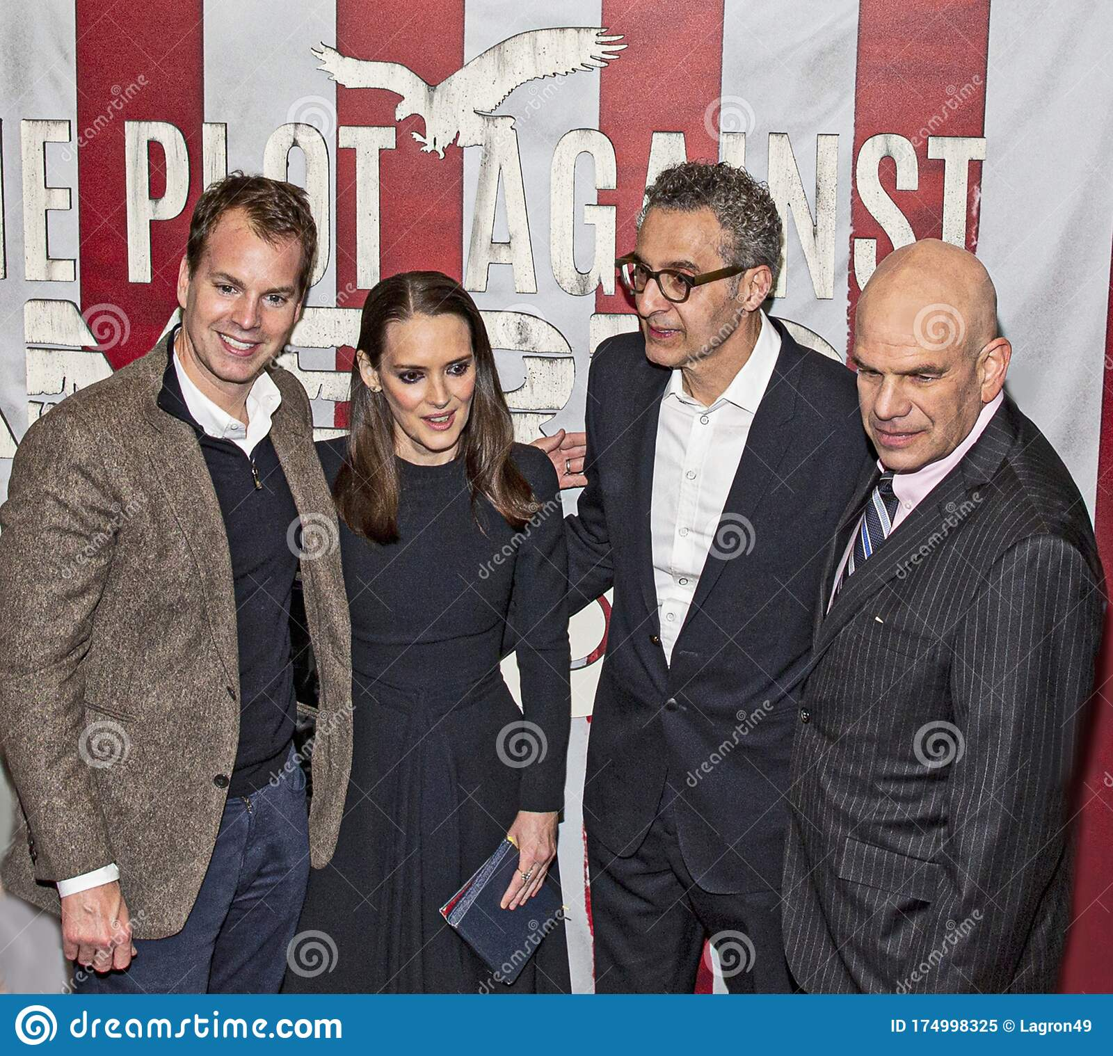 Winona Ryder John Turturro And David Simon At Hbo Red Carpet Premiere Of The Plot Against America Editorial Image Image Of Attitude Event 174998325