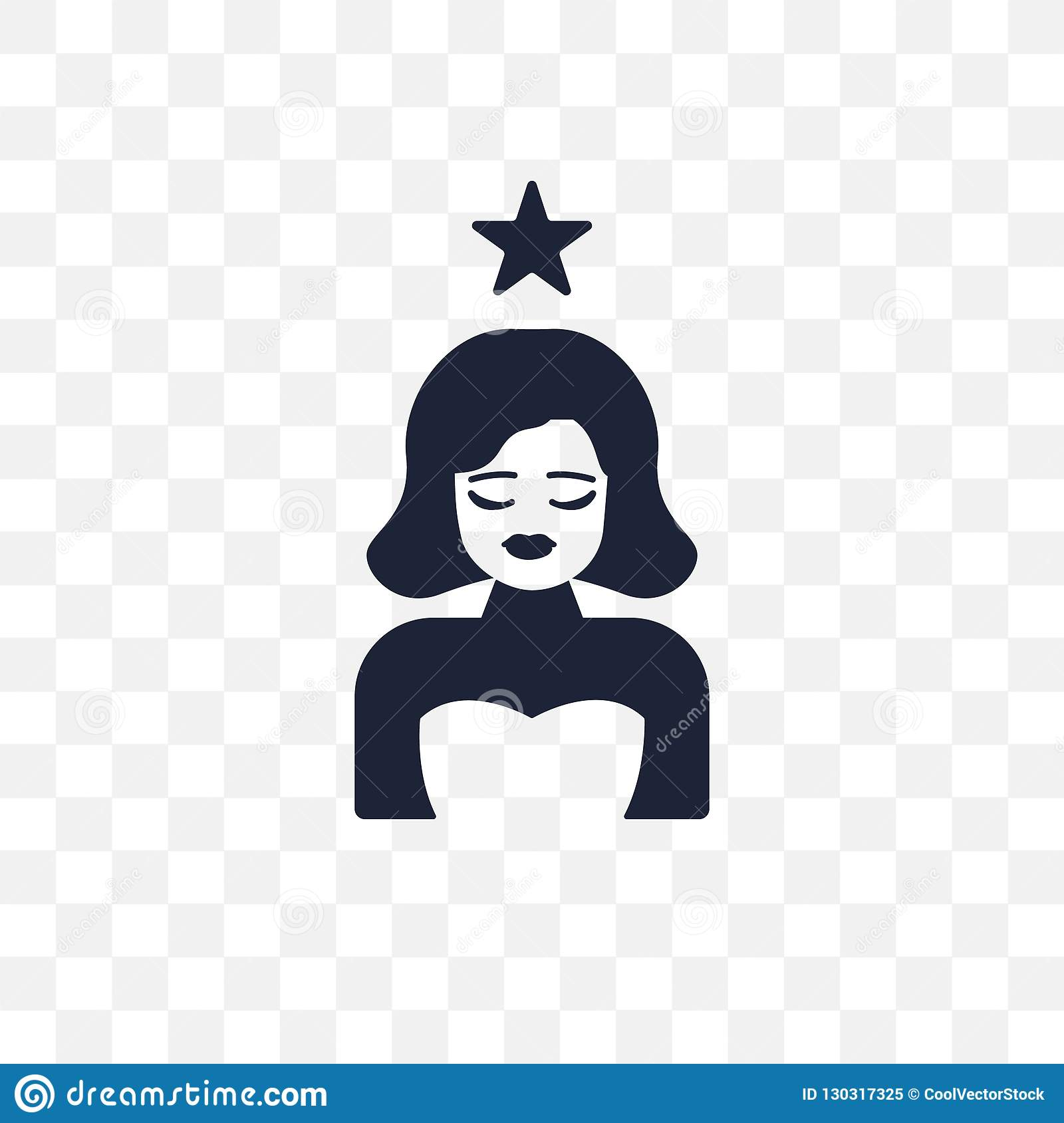 actress transparent icon. actress symbol design from Cinema coll