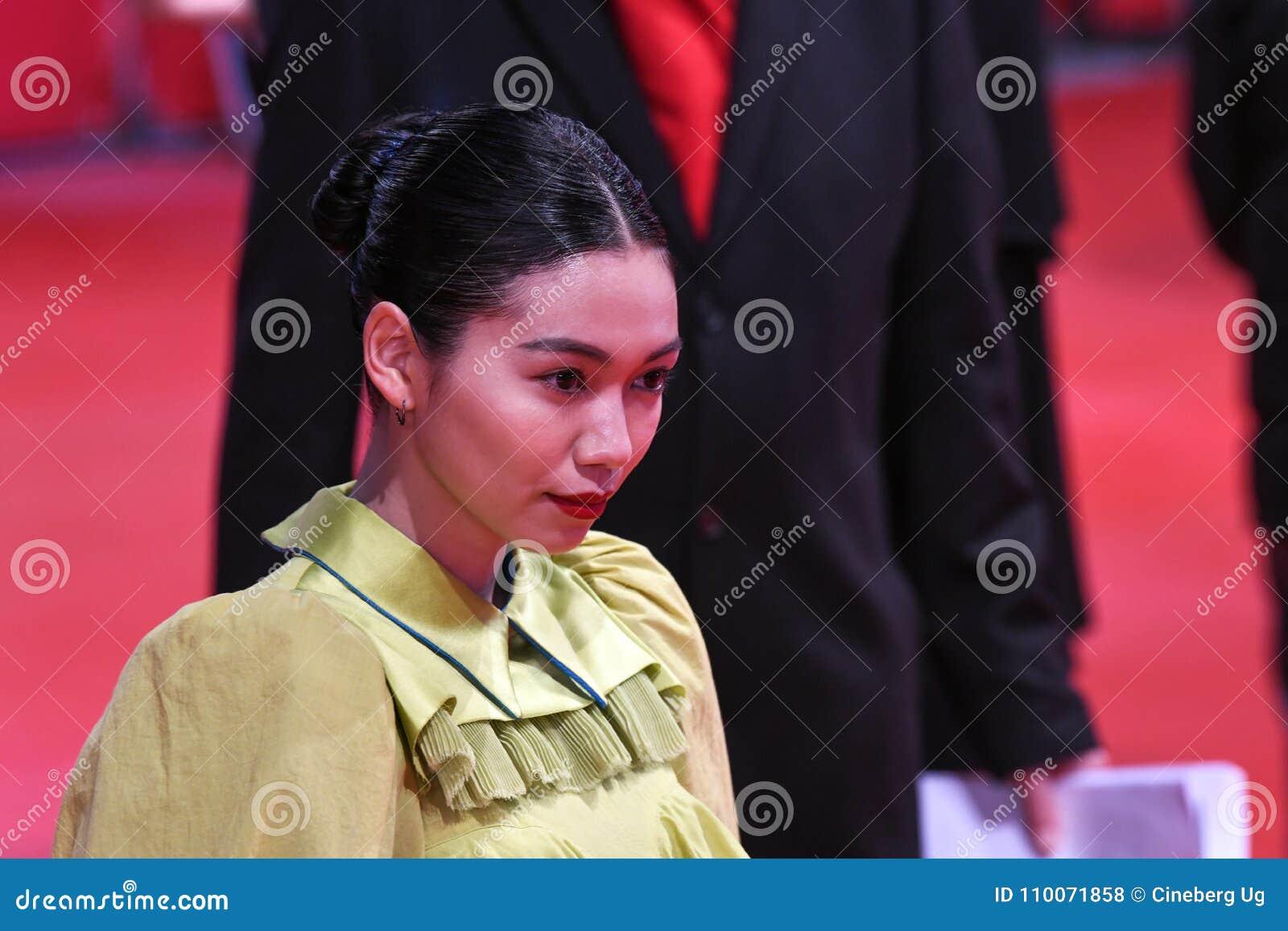 Actriz Japonesa Fumi Nikaido Durante Berlinale 2018 Foto De Archivo