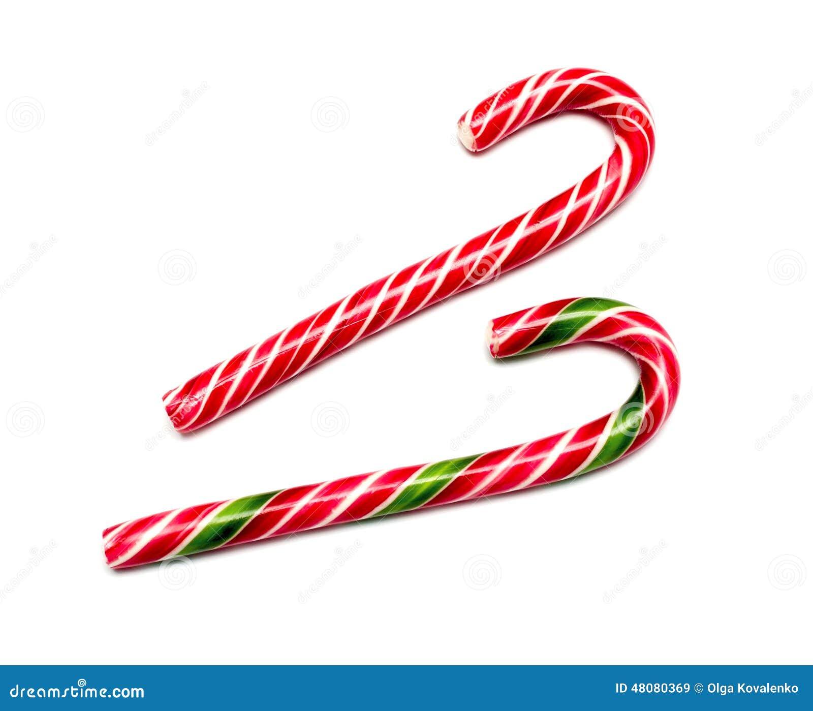 Acuñe El Bastón De Caramelo Duro Rayado En Colores De La Navidad ...