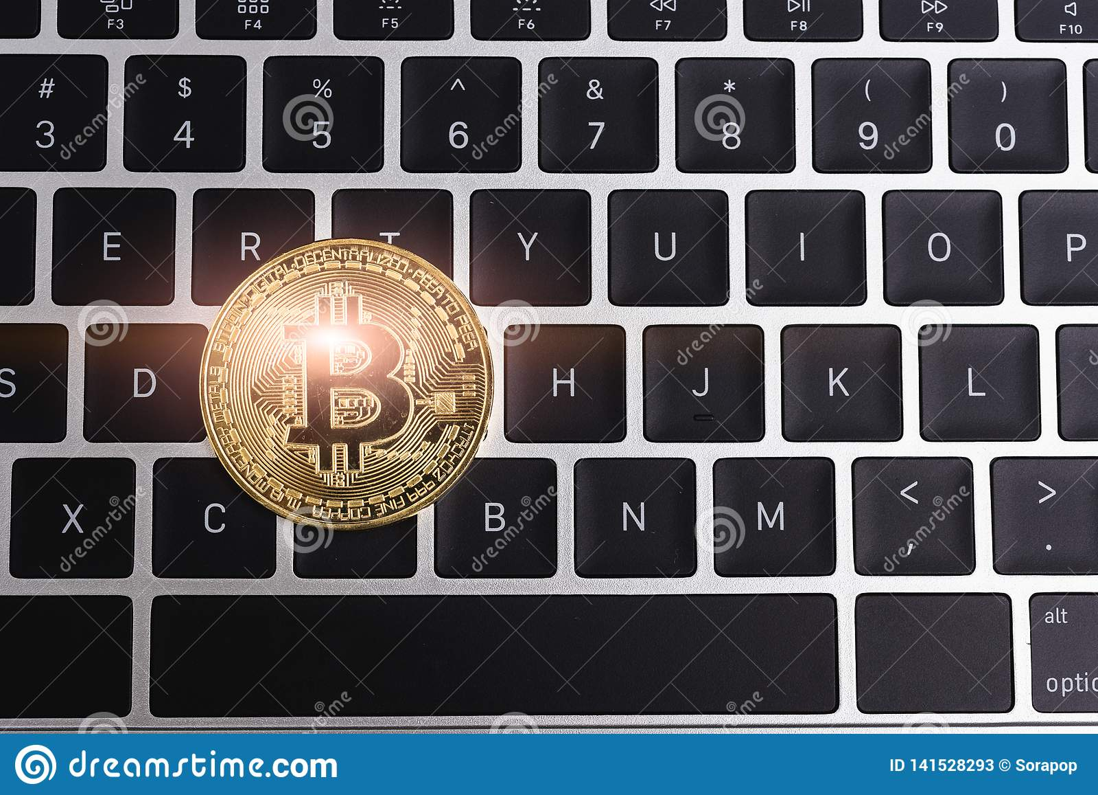 Acuñe, negocio de dinero de oro digital virtual del bitcoin