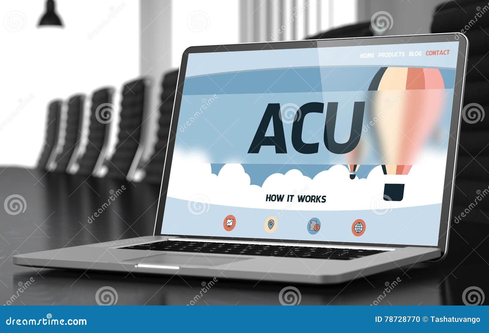 ACU på bärbara datorn i mötesrum 3d