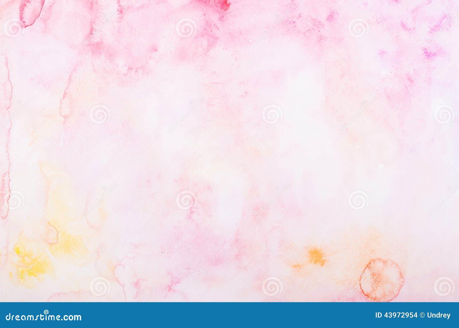 Acuarela colorida abstracta de la acuarela del drenaje de la mano