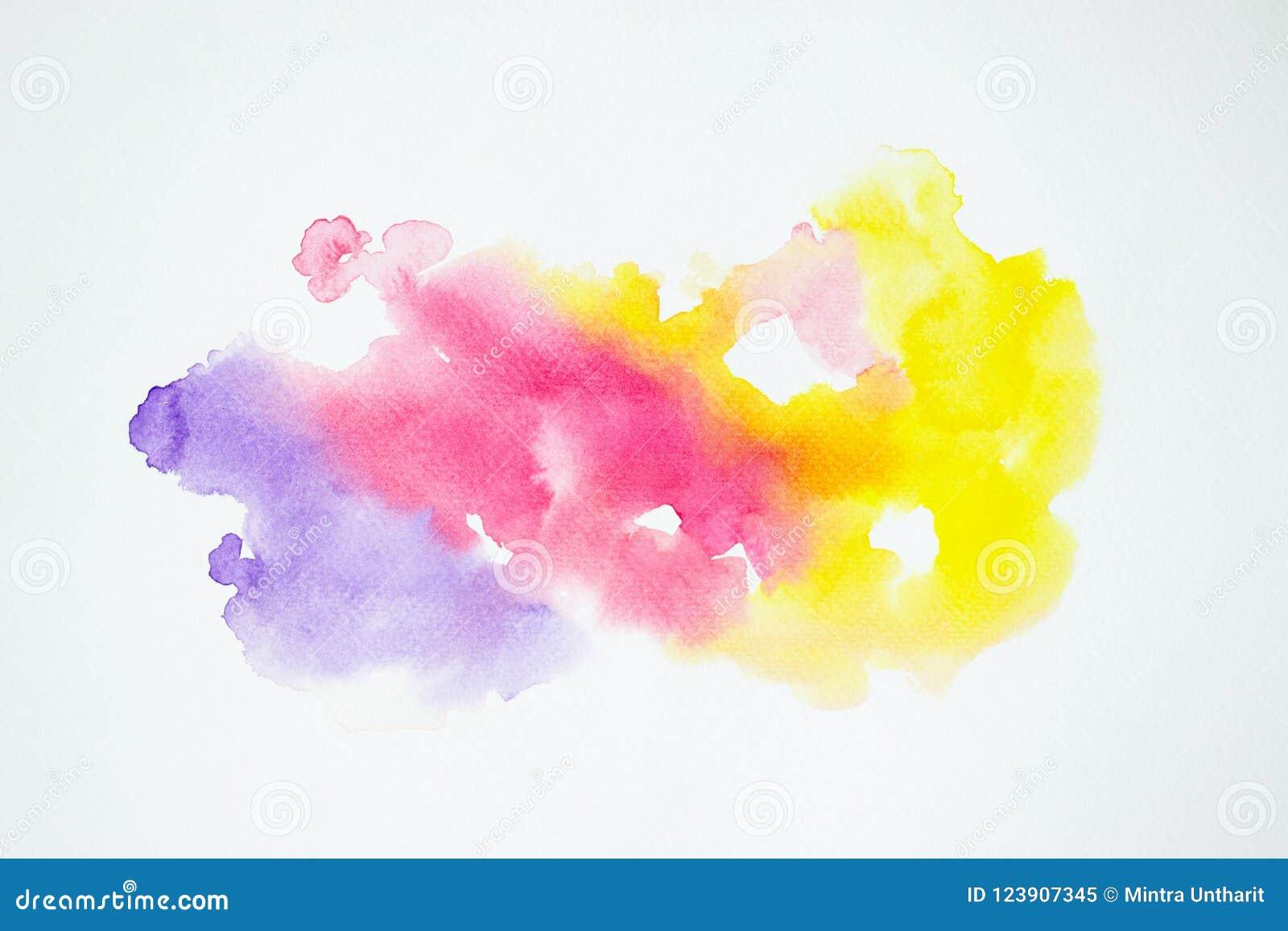Acuarela que pinta salpicar colorido en textura del Libro Blanco