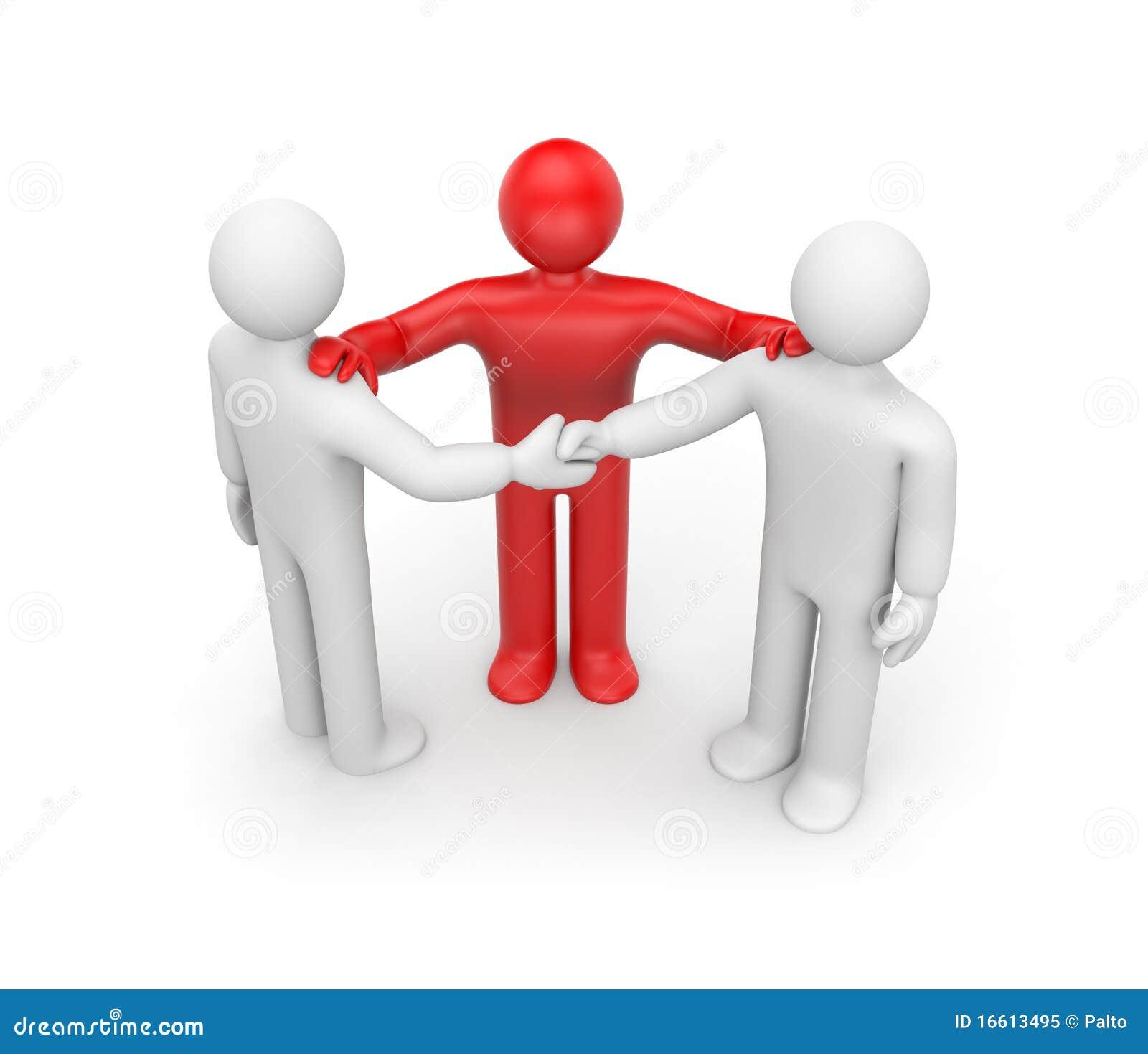 Acuerdo Con El Intermediario Stock de ilustración